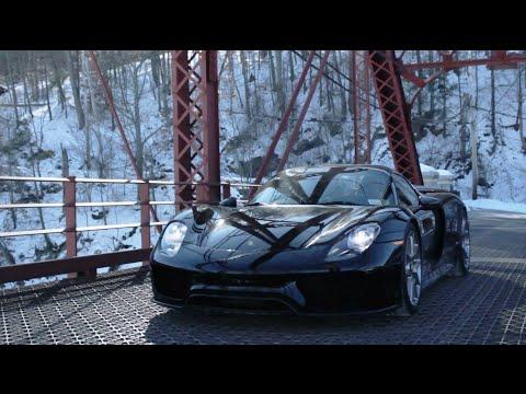 """The """"Its White Noise"""" Porsche 918 Spyder-Snow Versus Speed!"""