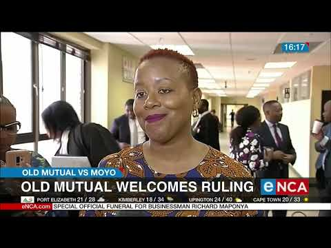 Moyo is appealing a court ruling in favour of Old Mutual