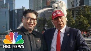 Kim Jong-Un, Donald Trump Impersonators Delight Tourists Ahead Of Singapore Summit | NBC News