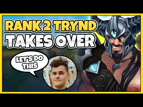 RANK 2 TRYND COMMENTATES RANK 1 TRYND GAMEPLAY - League of Legends