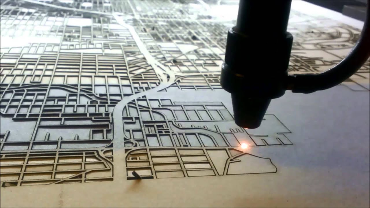 Watch This Laser-Cut Map Appear Before Your Eyes, Block By Block