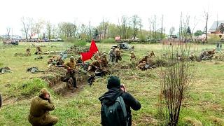 реконструкция сражения великой отечественной  воины