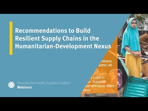 Recommendations to Build Resilient Supply Chains in the Humanitarian-Development Nexus