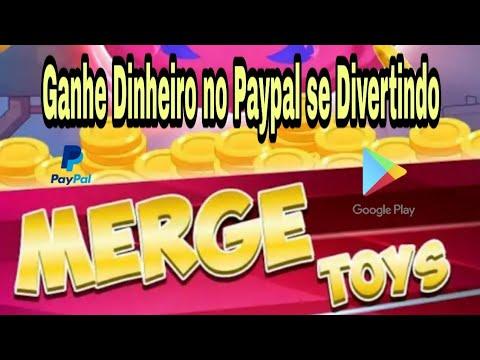 Saiu! Novo Aplicativo para Ganhar dinheiro no Paypal se divertindo / Merge Toys.