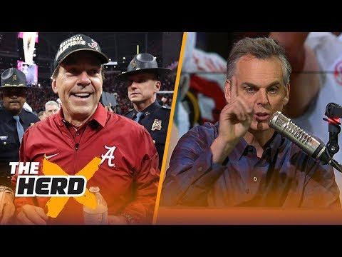 Colin Cowherd reacts to Nick Saban winning his 6th National Championship | THE HERD