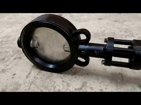 Motorised Butterfly Valve with Extended Shaft