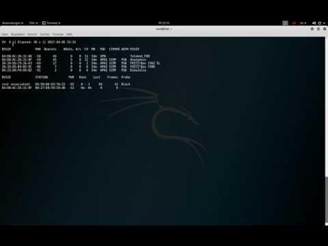 WLAN Hacking   1   die ersten Schritte und Netzwerke scannen