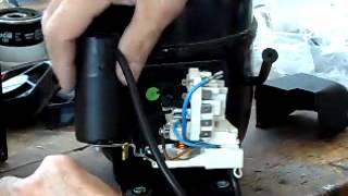 Montaggio parti elettriche compressore NE2130Z