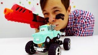 Фёдор и Мэтр едут на военную базу! Машинки для мальчиков.