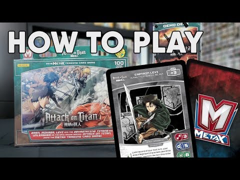 How to Play MetaX TCG - Attack on Titan Starters