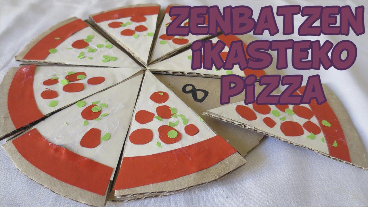 Zenbatzen ikasteko pizza