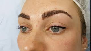 Latino Cat Eyeliner & Eyebrows Microblading by El Truchan @ Perfect Definition