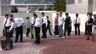 preview picture of video 'Feueruebung German Centre Shanghai 2013'