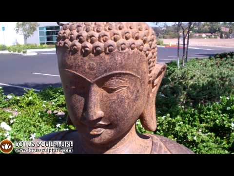 SOLD Stone Detailed Buddha Statue 49