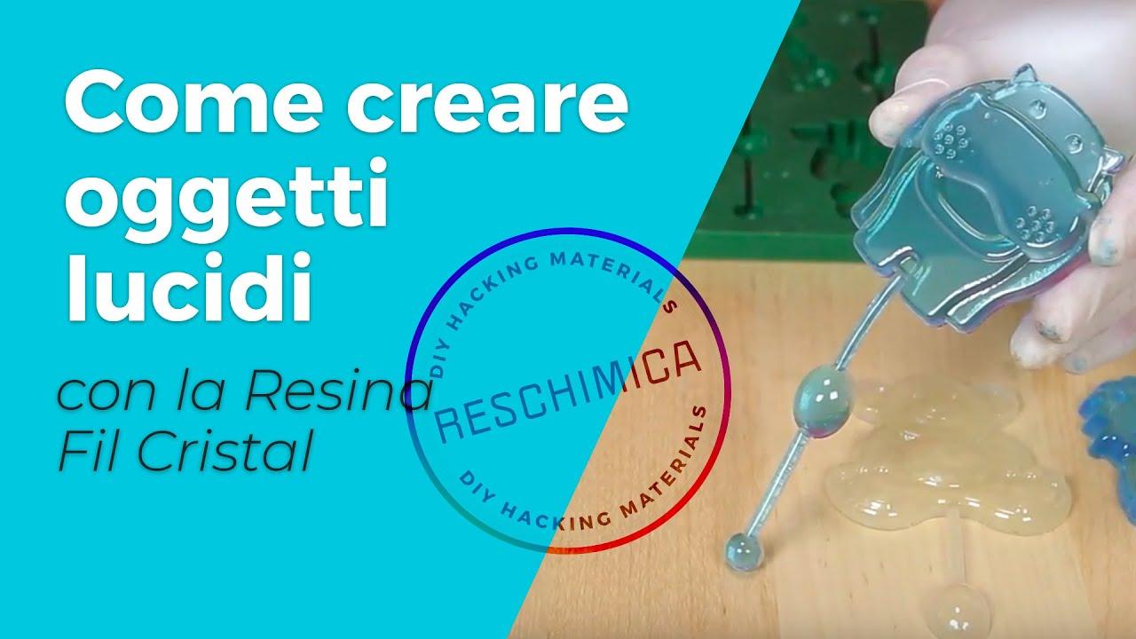<p>Resina epossidica trasparente per realizzare oggetti lucidi e trasparenti.</p>