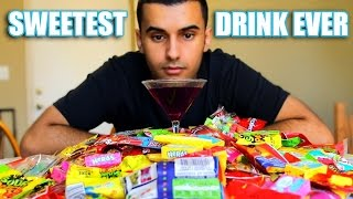 DRINKING THE SWEETEST DRINK ON EARTH!!! (CANDY! + BAG OF SUGAR!) CHALLENGE!!