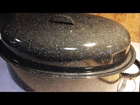 Super Tough Granite Ware 18-Inch Covered Oval Roaster