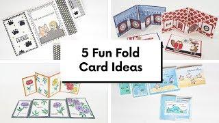 5 Fun Fold Card Ideas - Card Making Wed Series #31