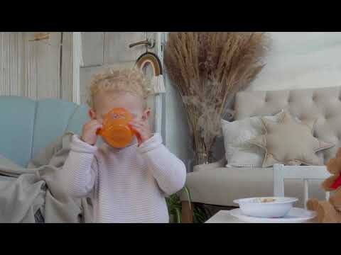 Baboo puodelis, Me To You, oranžinis, 200ml, 12+ mėn kaina ir informacija | Buteliukai kūdikiams ir jų priedai | pigu.lt