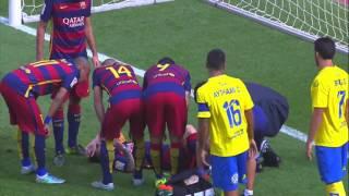 Травма Лионеля Месси Барселона : Лас Пальмаса Чемпионат Испании