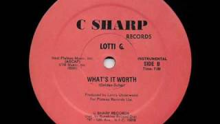 Lotti G What Its Worth Instrumental
