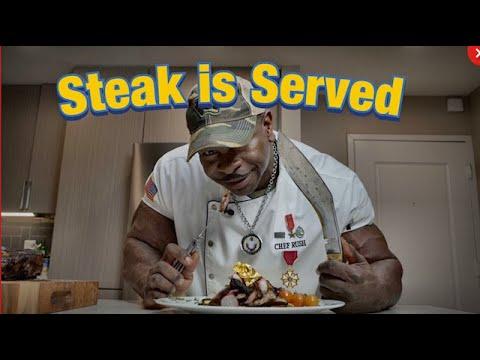 White House CHEF RUSH, Coffee Crusted Steak