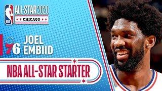 Joel Embiid 2020 All-Star Starter   2019-20 NBA Season