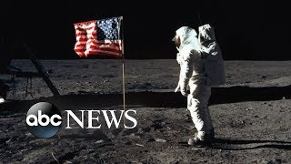 Man on the moon 50 years later: The flag