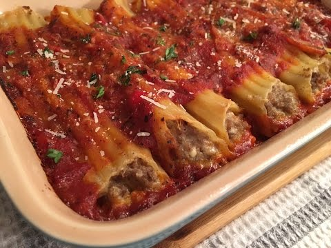 Meat Manicotti recipe – Delicious Stuffed Pasta – Episode #69