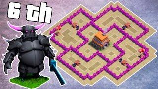 Clash Of Clans база для 6 тх. Непобедимая база и красивая:)