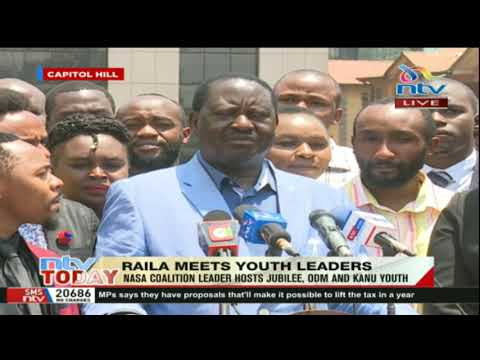 NASA leader Raila Odinga receives youths from the oldest political party - KANU