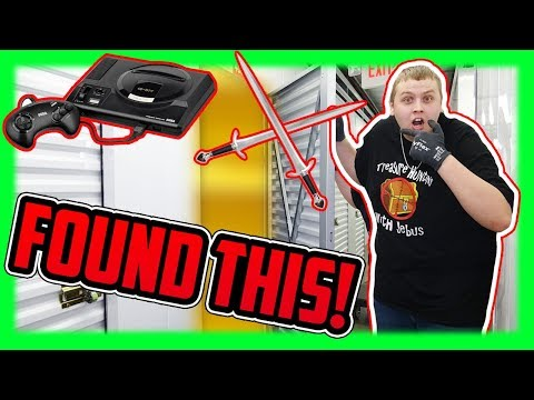 Old School Video Games And Weapons Found In Storage Unit! I Bought An Abandoned Storage Unit!
