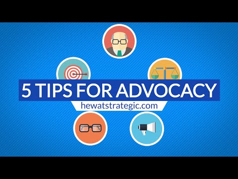 5 Tips For Advocacy