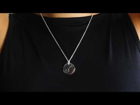 925er Silber Kette mit individueller Sternbild Gravur