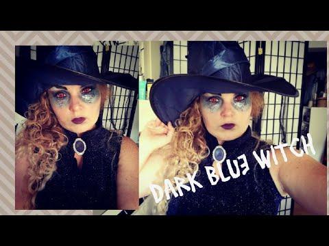 Halloween Look ^^ Blaue Edle Glamour Hexe  ^^ Sparkling Dark Witch