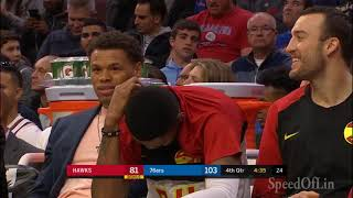 Jeremy Lin: Limited Minutes in Philadelphia - 10/29/18 Hawks at 76ers