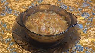 Суп с пекинской капустой в восточном стиле.