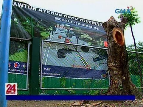 [GMA]  Nasa 500 puno, puputulin ng DPWH para sa road widening project