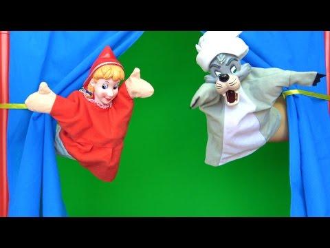 Kırmızı başlıklı kız masalı el kuklası ile tiyatro - Çizgi film oyuncakları Niloya Heidi anlatıyor