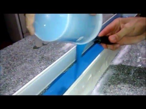 Moldura de gesso com silicone