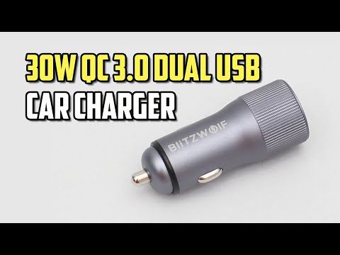 Best Budget 30W Quick Charge 3.0 Dual USB Ports Fast Car Charger - BlitzWolf BW-SD2 Review