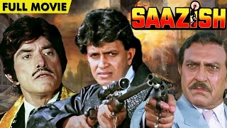 Saazish Full Movie   Raaj Kumar And Mithun Chakraborty Best Hindi Action Movie   Blockbuster Movie