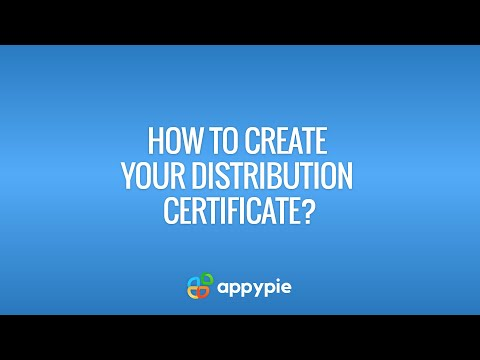 How to create your Distribution Certificate? - YouTube