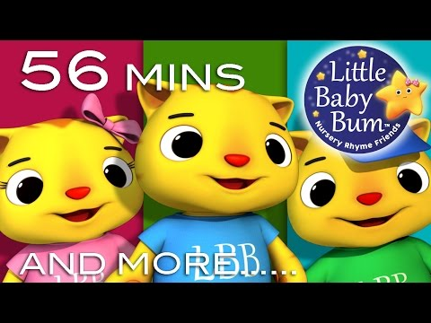 Three Little Kittens | Plus Lots More Nursery Rhymes | 56 Minutes Compilation from LittleBabyBum!