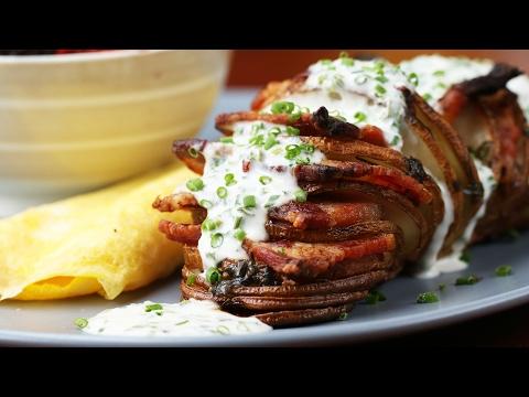 Creamy Bacon Chive Hasselback Potatoes