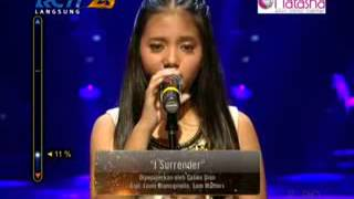 Hanin Dhiya I Surrender Rising Star Indonesia Live Audition Eps  2