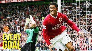 Every Premier League Goal | Manchester United v Fulham F.C. | RVP, Ronaldo, Beckham & More!