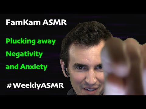 [ASMR] Plucking Away Negativity and Anxiety (Visual Triggers)