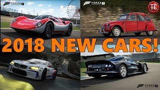 Forza Motorsport 7 | ALL NEW CARS! First Car Pack of 2018, Full Detailed List