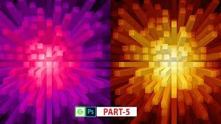 Sunburst Effects Or Block Effects In Photoshop Part 5